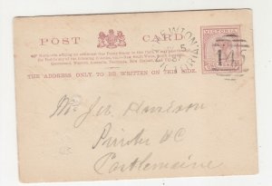 VICTORIA, Postal Card, 1887 1d. Brown, 145, CHEWTON cds. to Castlemaine.