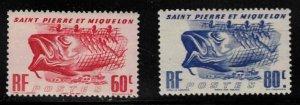 ST PIERRE & MIQUELON Scott # 328-9 MH - Fishing Industry Symbols