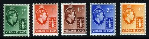 VIRGIN ISLANDS King George VI 1938 Definitive Group SG 110 to SG 115 MINT