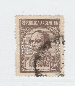 A3P19F53 Argentina 1945-47 Unwmk 2c used with Perfin