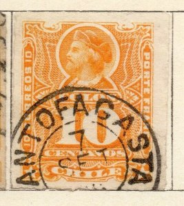 Chile 1881 Early Issue Fine Used 10c. Postmark NW-11404