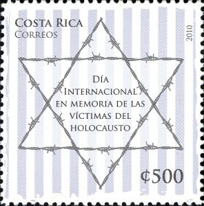 Costa Rica Stamp 2010 SC #632 International Holocaust Remembrance  Used Postmark