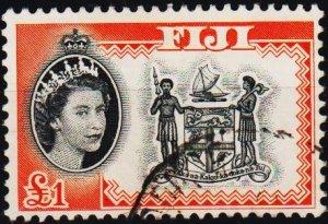 Fiji. 1954 £1 S.G.310 Fine Used