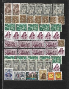 COLLECTION LOT OF 56 PORTUGAL MINT STAMPS 1945 + CLEARANCE