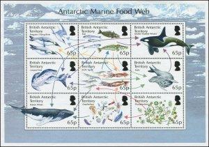 British Antarctic Territory 2014 Sc 485 Bird penguin whale fish seal CV $16.50