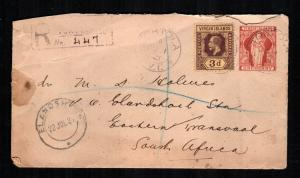 British Virgin Islands 42 used on cover   cat  $ 100.00 aaa