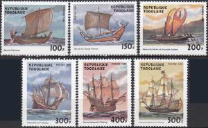 Togo #1905-1911 Sailing Ships