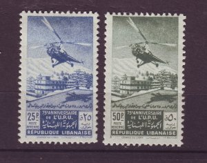 J24009 JLstamps 1949 lebanon set mhr #c148-9 helicopter mail
