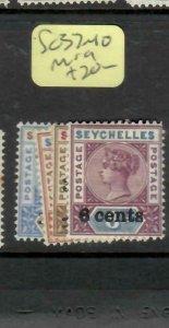 SEYCHELLES  (P2605B)  QV    SURCH SET SG 37-40    MOG