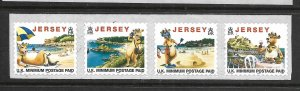 JERSEY, 789E, MNH, STRIP OF 4,  1999 SELF ADHESIVE STAMPS