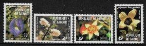 Djibouti #538-41 MNH Set - Flowers