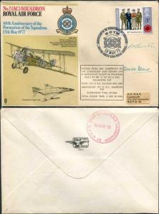 RAF2b No.2 (AC) Sqn 60th Ann Formation of Squadron Pilot and Nav Signed
