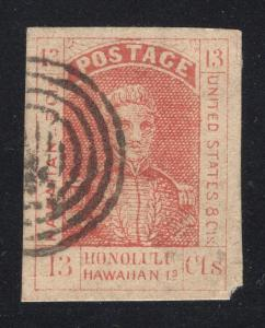 Hawaii #6 Red - Black Target Cancel - Cat:$1,700