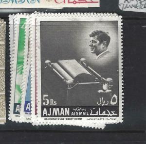 AJMAN   (PP0306B)  KENNEDY  SET     MNH
