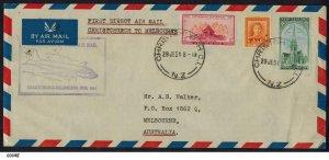 New Zealand 1951 First Direct Flight Christchurch to Melbourne Australia