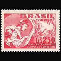 BRAZIL 1956 - Scott# 837 Fire Brigade Set of 1 LH