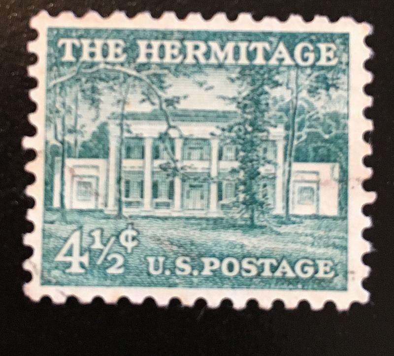 1037 Hermitage, Liberty Series, Circulated Single, Vic's Stamp Stash