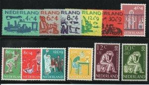 Netherlands - Sc# B331 - B342 MH         /        Lot 0220196