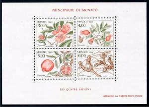 [69631] Monaco 1989 Flora Flowers Grenadier Tree Souvenir Sheet MNH