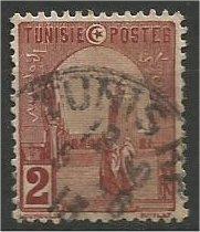 TUNISIA, 1906, used 2c, Mosque Scott 30