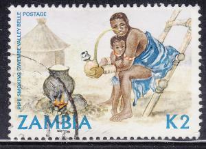 Zambia 253 USED 1981 Woman Smoking Pipe