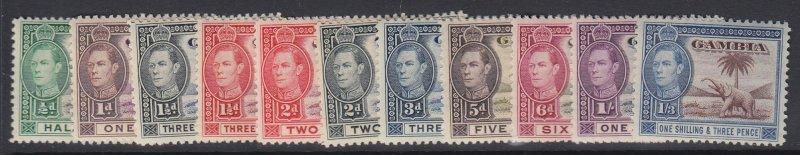GAMBIA - Scott 132-138A (SG 150-156a), MNH - Elephant Series
