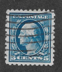 428 Used, 5c. Washington, Superb, Jumbo