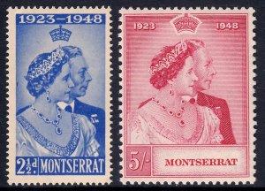 Montserrat - Scott #106-107 - MLH - Gum toning - SCV $9.25