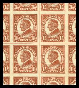 WCstamps: U.S. Scott #576 / $420 - 1.5c Center Line Block PSE GEM 100J Mint OGnh