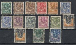 Northern Rhodesia KGVI 1925 Set To 3/- SG1/14 MH/FU J9636