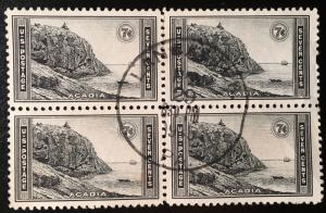 746 Acadia Park, Circulated Block, Vic's Stamp Stash