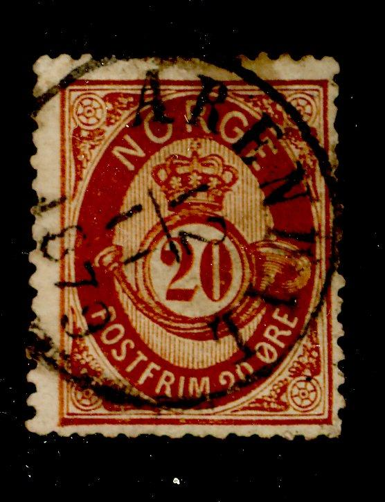 Norway# 27 Used F-VF Cat$20