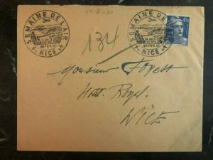 1947 Nice France First Day Postcard FDC Cover Aviation week Domestic Used