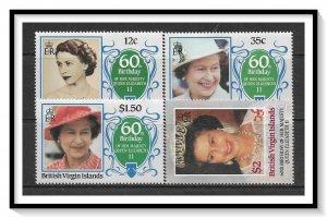British Virgin Islands #532-535 QE II 60th Birthday Set MNH