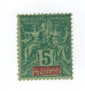 French Polynesia #4 MNG CAT VALUE $12.00