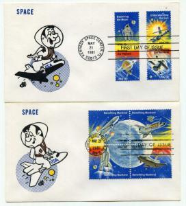 Stamp US Sc 1912-9 Sheet 1981 Space Achievement Shuttle