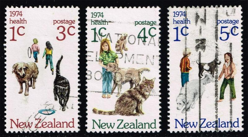 New Zealand #B89-B91 Children and Pets Set of 3; Used (2.95)