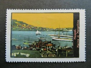 A4P3F33 Reklamemarke View of Italy Neapel Napoli mint no gum