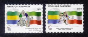 Gabon Sc# 1093-4 MNH Africa Cup Soccer