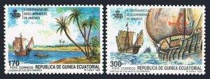 Equatorial Guinea 149-150,MNH.Mi 1724-1725. Discovery of America,500th Ann.1990.