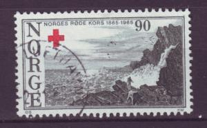 J18367 JLstamps 1965 norway used #472 red cross