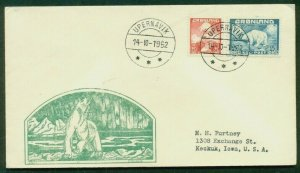GREENLAND 20+40ore 1st issued tied UPERNAVIK (Wow. 112.01) Polar Bear cachet