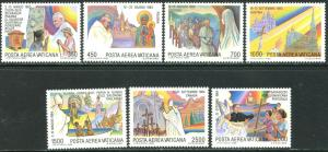 VATICAN Sc#C75-C82 1986 Journeys of Pope John Paul II Complete Set Mint OG NH