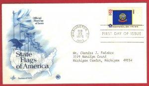 USA FDC ST FLAG IDAHO 1976 SERIES ARTCRAFT  SEE SCAN  (89)