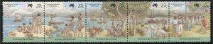 Christmas Island Scott 213 MNHOG Strip of 5 - Bicent. of Australia - SCV $10.00