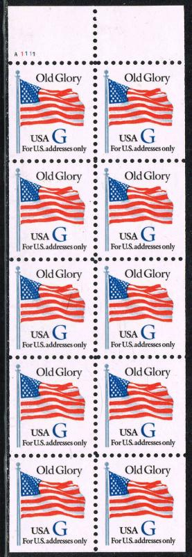 #2884a 1994 G (32c) NONDENOMINATED SERIES ISSUE BOOKLET PANE OF 8  MINT-OG/NH