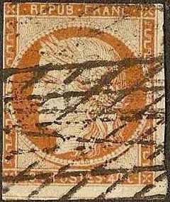 France - #7 -Used- 1850 - Ceres - 40c - SCV-475.00