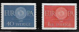 SWEDEN, 562-563, MNH, EUROPA ISSUE 1960