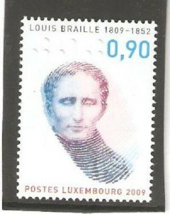 2009   LUXEMBOURG  -  SG  1864  -  LOUIS BRAILLE  - UMM