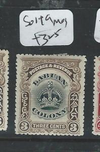 LABUAN (PP1205B) CROWN 3C  SG 119    MOG
